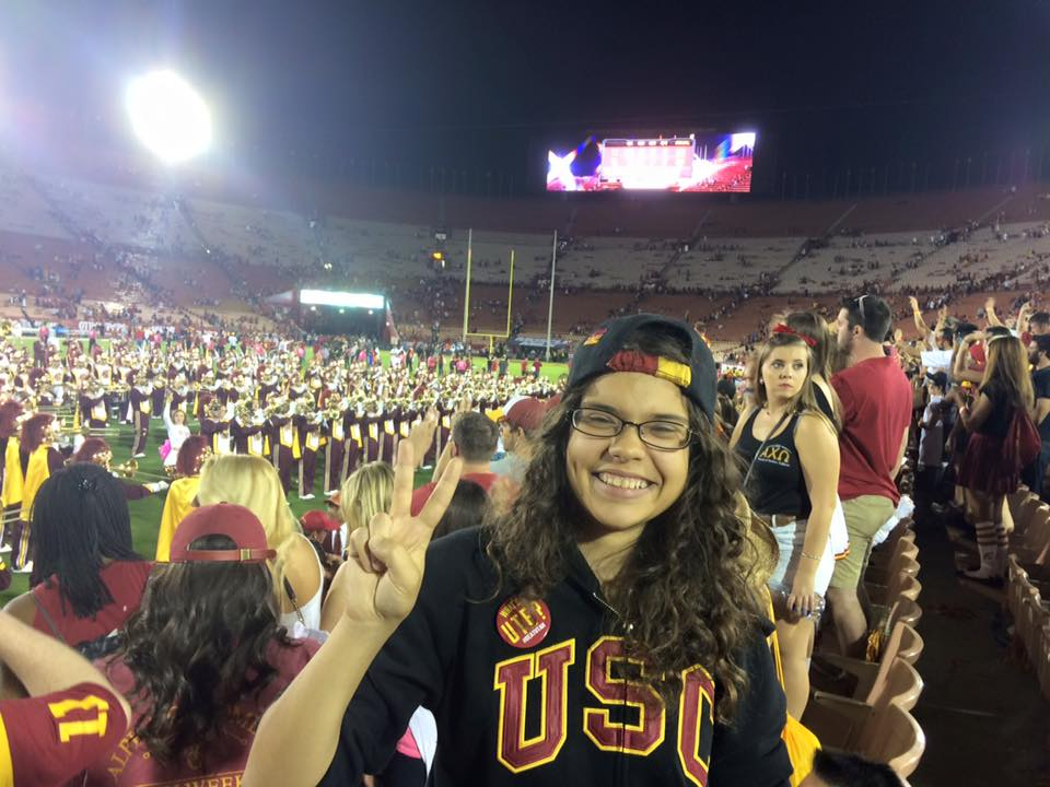 Ariana at a USC game