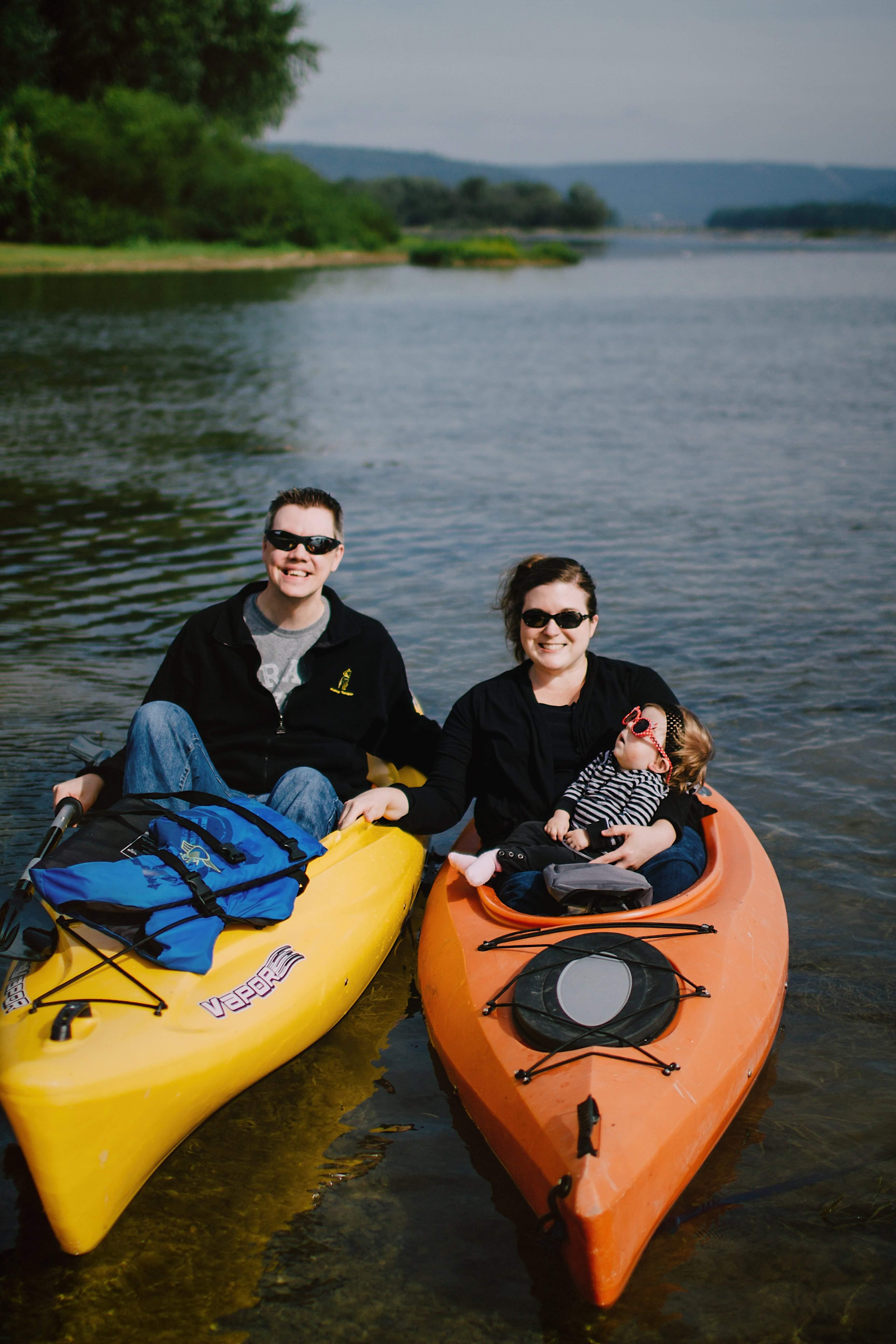 mom, dad and tori kayaking
