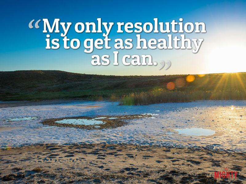 """My only resolution is to get as healthy as I can."" -- Sharon Maiman Rosenberg"