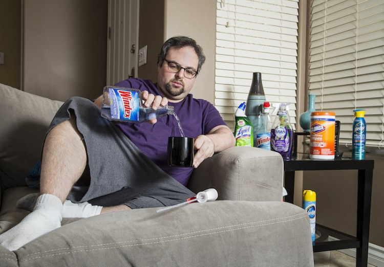 Man with OCD on couch