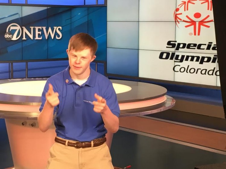 Connor Long on set. / Courtesy of Special Olympics Colorado