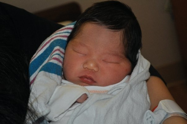Cooper when he was born