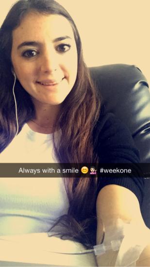 young woman's snapchat photo