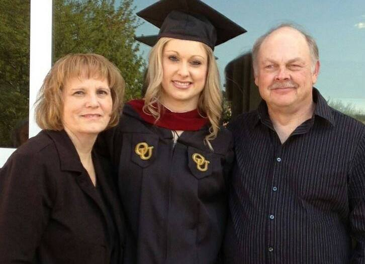 College graduate with Parents