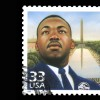 painting of martin luther king on a stamp