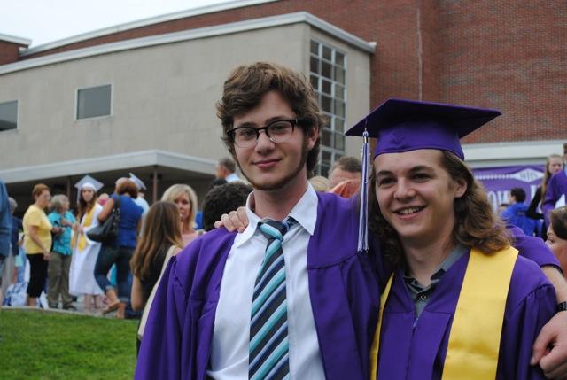 Peter at graduation