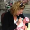 Mom breastfeeding her baby