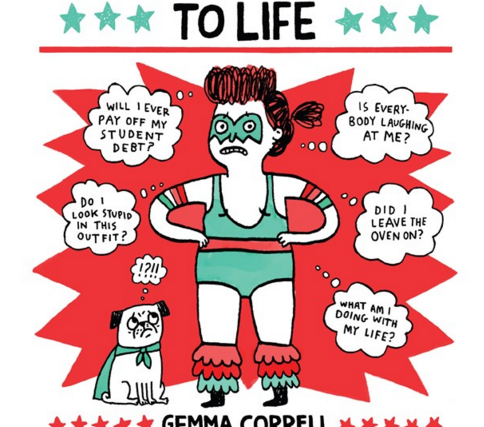 """The cover of a book titled, """"The Worrier's Guide to Life."""""""
