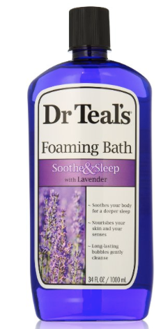 bottle of Dr. Teal's Foaming Bath
