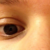 A close up photo of someone's eyes