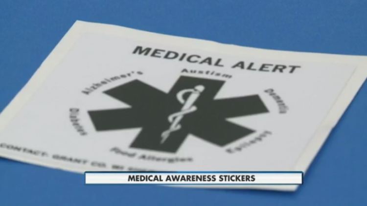 Photo of medical alert sticker