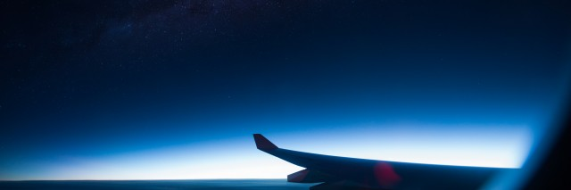 Beatiful Milky Way view from Airplane windows