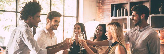 Celebration with nearest friends.