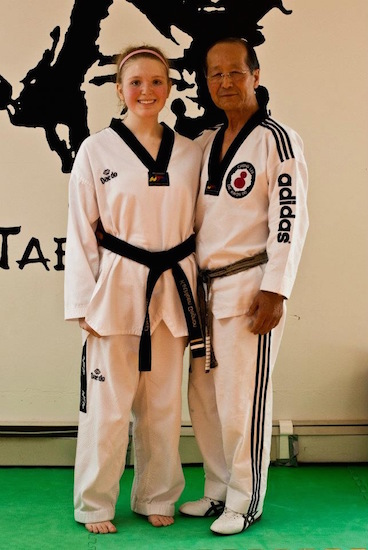 """Kathleen's photo caption: """"Me in my prime, the day I received my 2nd degree black belt."""""""