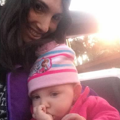 Randi and her daughter outdoors