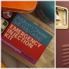 Collage of school lockers and emergency injection kit