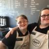 Staffers at Beau's Coffee