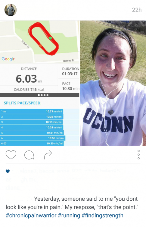 woman's instagram post