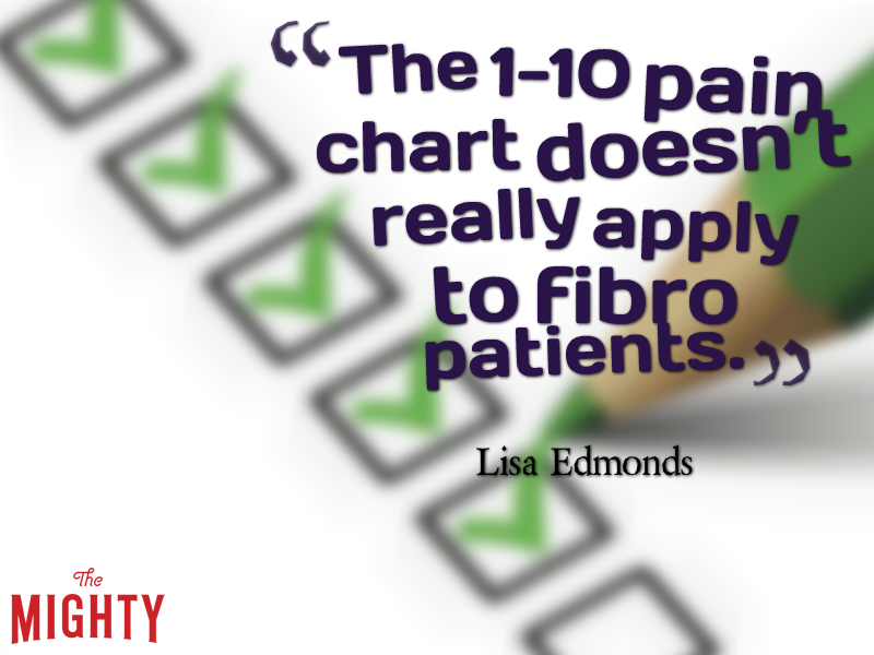 The 1-10 pain chart doesn't really apply to fibro patients