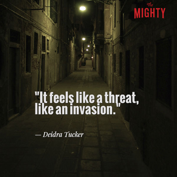 "A quote from Deidra Tucker that says, ""It feels like a threat, like an invasion."""