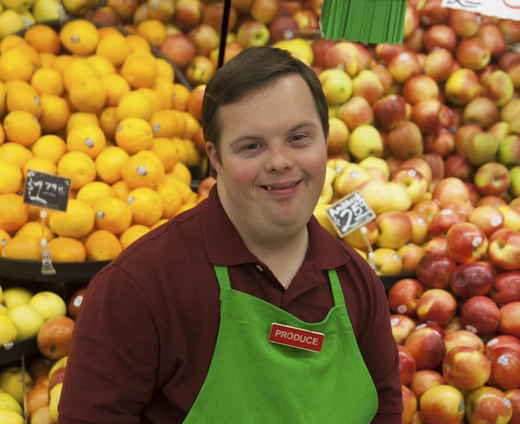 man at grocery store