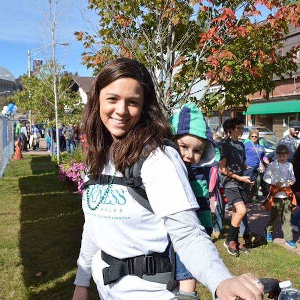 Hilary at the American Foundation for Suicide Prevention's North Country Out of the Darkness Walk.