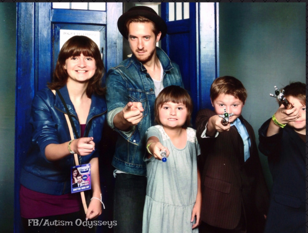 Arthur Darvill (Rory on Doctor Who) with kids at a comic convention