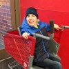 Special needs child in Caroline's Cart