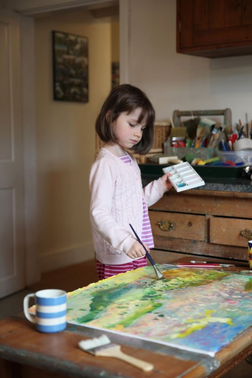 Iris Grace Carter-Johnson painting