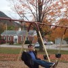 her brother dan on a swing