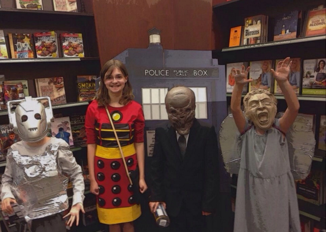 "Kids at Barnes and Noble Doctor Who ""Get Pop -Cultured"" event"