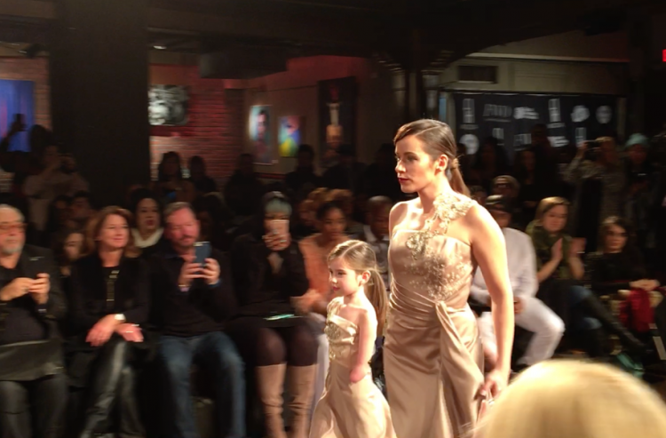 Rebekah Marine walking the runway