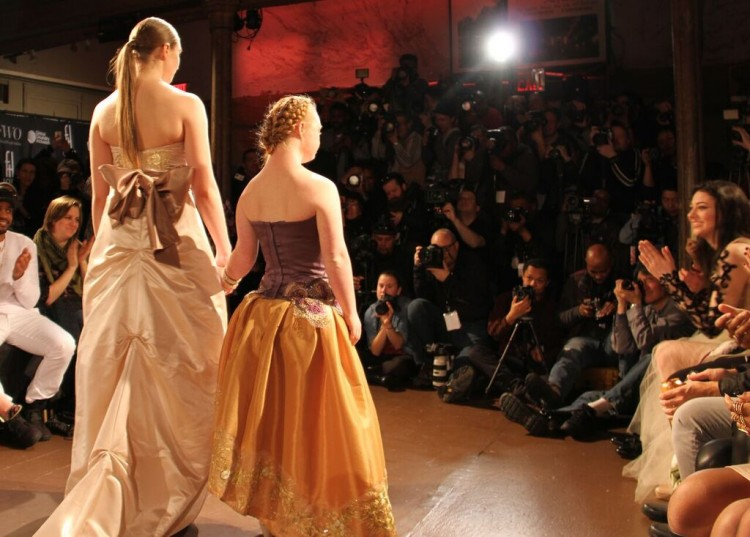 Madeline Stuart on the runway
