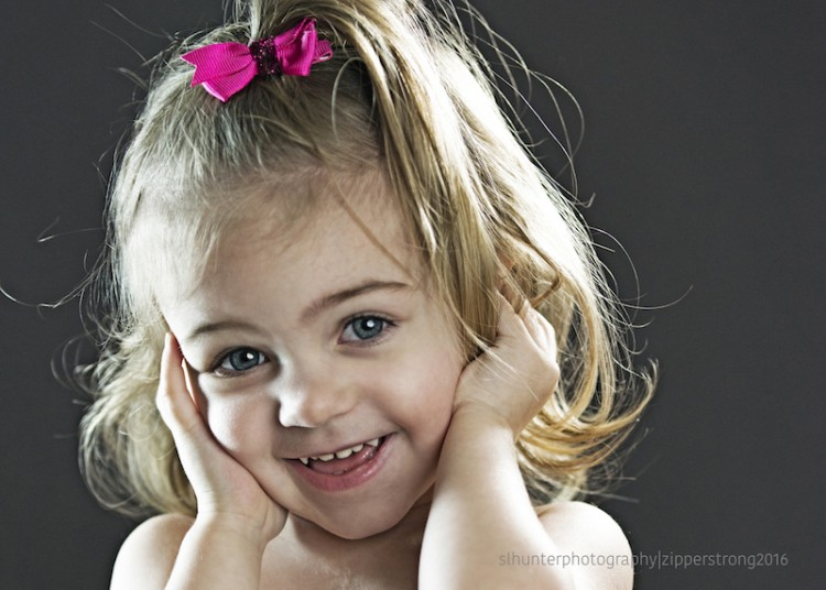 Girl with congenital heart defect