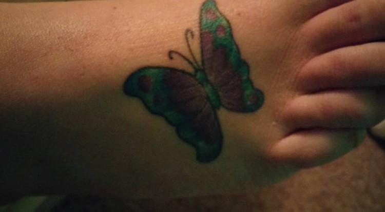 Fibromyalgia tattoo of butterfly