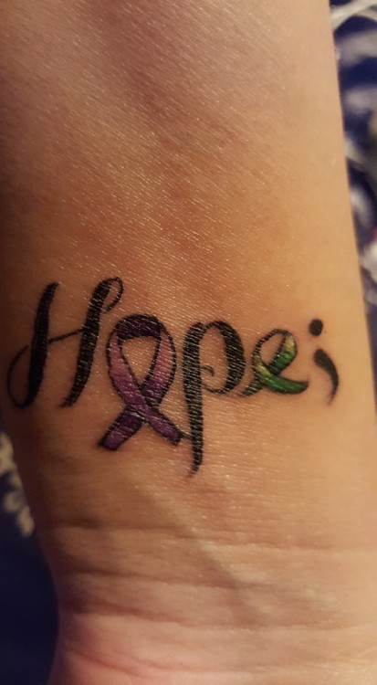 "Fibromyalgia tattoo ""hope"""