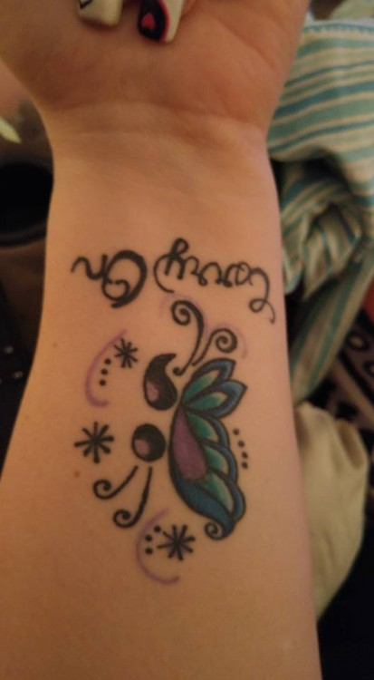 Fibromyalgia tattoo with butterfly