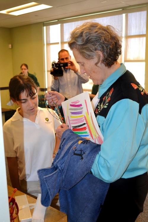 Temple Grandin Visits The Monarch School and Institute