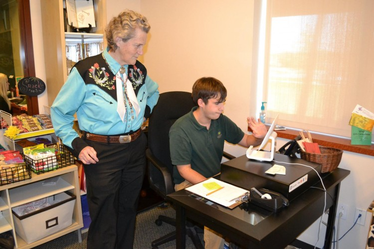 Temple Grandin Visits The Monarch School and Institute