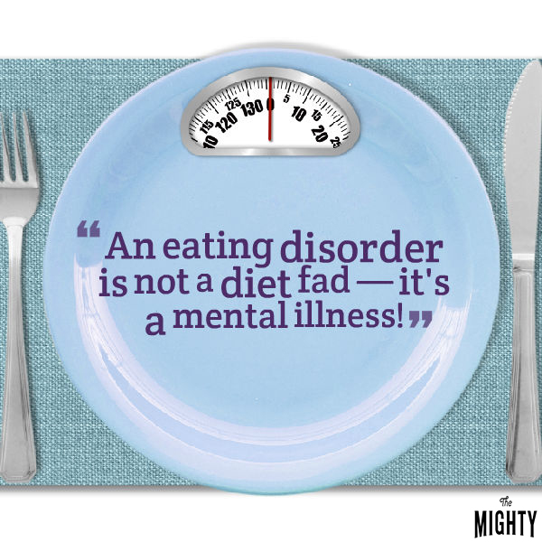 Image of a plate as a scale for eating disorder myths post