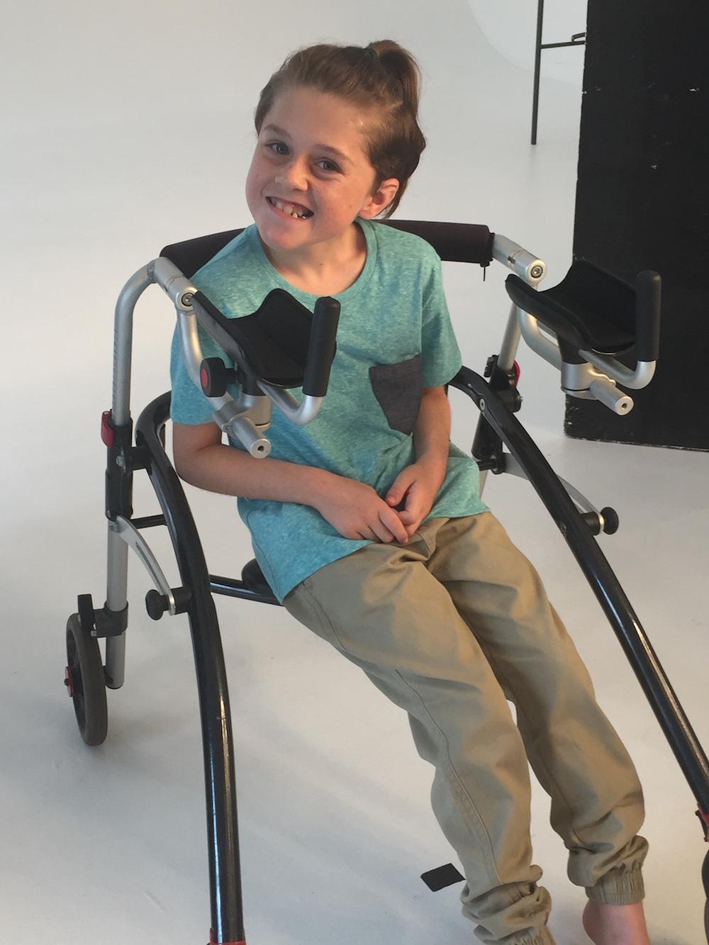 cooper smiling on set