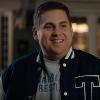 jonah hill on SNL wearing a varsity jacket in skit