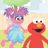 elmo talks to julia, a character with autism