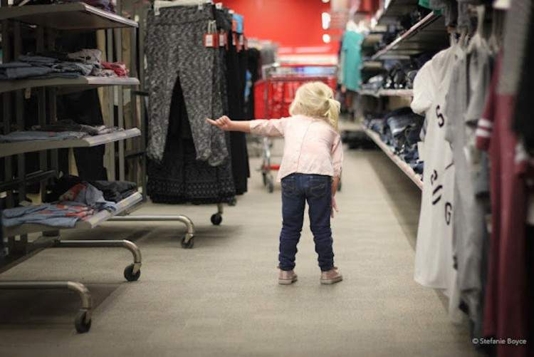Stefanie Boyce's daughter at Target.