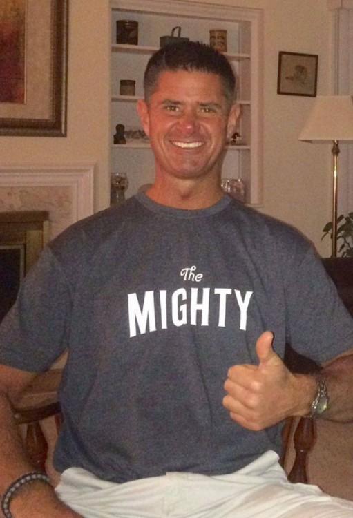 tom seaman wearing Might t-shirt