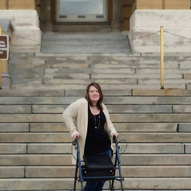 author standing at the capitol