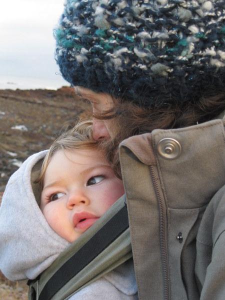 Alex Davey and her son, Benjamin.