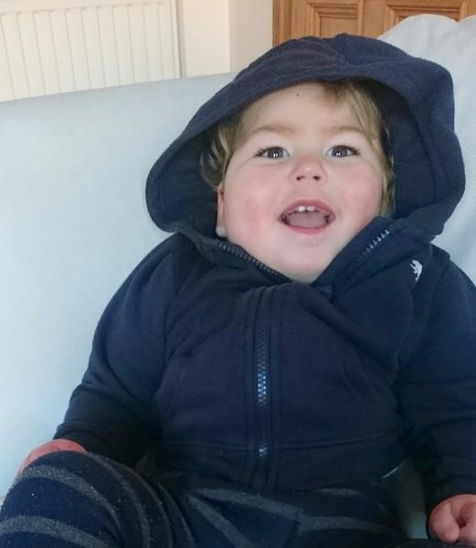 Alex Davey's son, Benjamin.