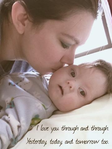 woman kissing baby's cheek