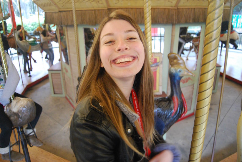 Naomi on a merry-go-round